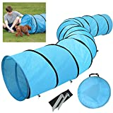 Yaheetech 18' Pet Dog Agility Obedience Training Tunnel Blue - Dia.24