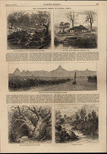 - Livingstonia Mission in Central Africa 1877 antique wood engraved print