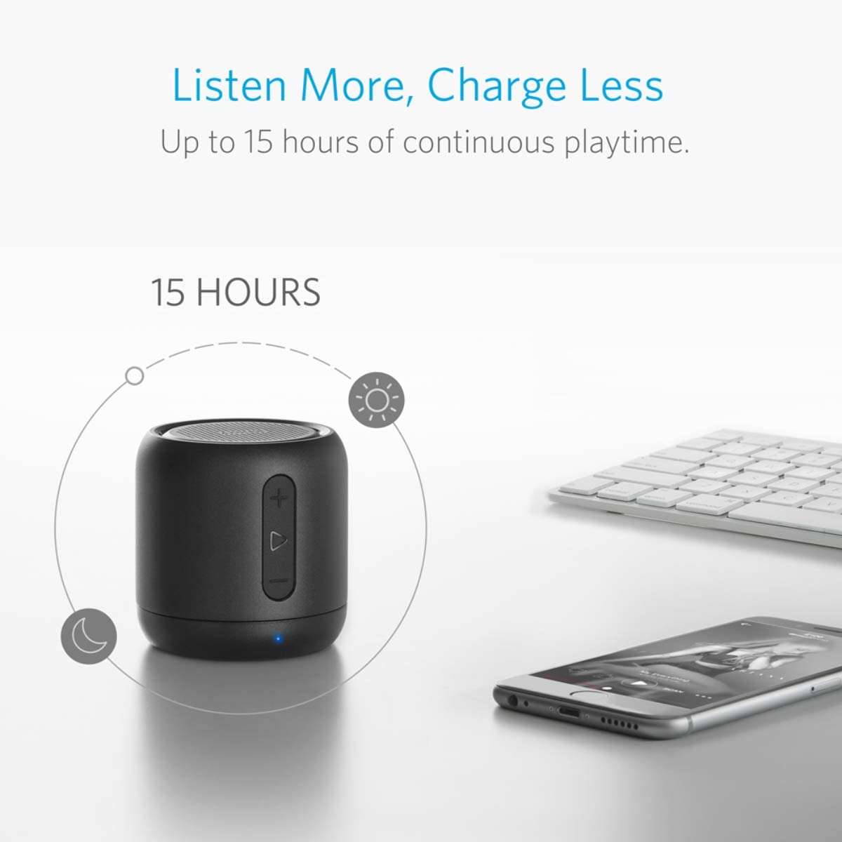 66-Foot Bluetooth Range Black Anker Soundcore Mini Noise-Cancelling Microphone Enhanced Bass Super-Portable Bluetooth Speaker with 15-Hour Playtime