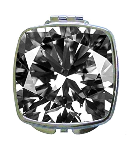 - Max Wilder Up-Close of a Diamond Gem Jewel Flat Print Design - Compact Beauty Mirror - Square Shaped