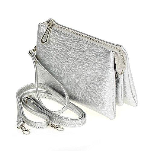 Phone Purse for Cell Smartphone Silver Women T3 Bags Metalic Cross Mini Bysummer Body qZnwXnIT