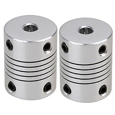 2 Pcs 3D printer Stepper Motor Flexible Coupling Coupler /Shaft Couplings 5x8x25mm