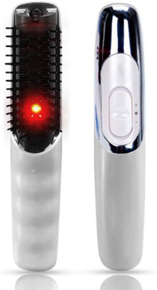 Pelo peine eléctrico cuero cabelludo masajeador infrarrojo caliente negro Peine pelo recto peine multifuncional Home COMB