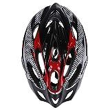 HEALTHLL Cycling Helmet Ultralight Bicycle Helmet Non Integrally-Molded Adjustable 58-61Cm Mountain Road Bike Helmet MTB Man Women Black