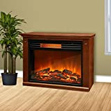 Lifepro by Lifesmart LS2002FRP13 Infrared Fireplace - Brown