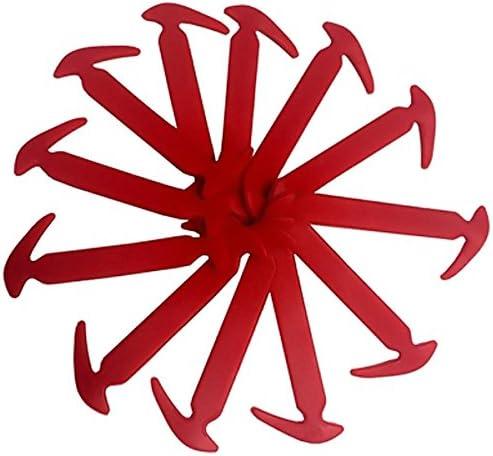結ばない靴ひも かぎづめ型 小さめサイズ 女性/子供用スニーカーなどに! レッド AP-TH556-RD 入数:1セット(12本)