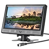 LSLYA 9 Inch LCD Monitor HD 800x480 TFT Color Screen, 2 Video Input/HDMI/VGA, Support Car Backup, mini PC Display, CCTV, Home Security, with Remote Control
