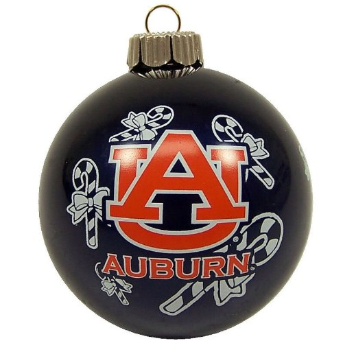 (Topperscot Auburn Tigers Official NCAA Holiday Christmas Ornament Glass Ball 911677)