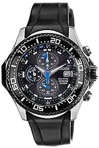 Citizen BJ2110-01E - Reloj para hombres, correa de goma color negro
