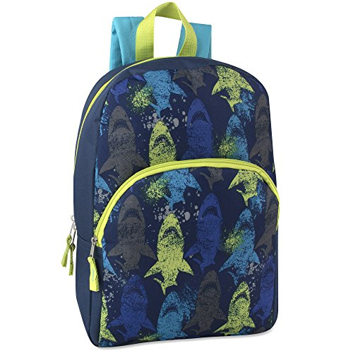 Trail maker Super Popular Boys Backpack for School, Summer Camp, Travel and Outdoors! Sharks