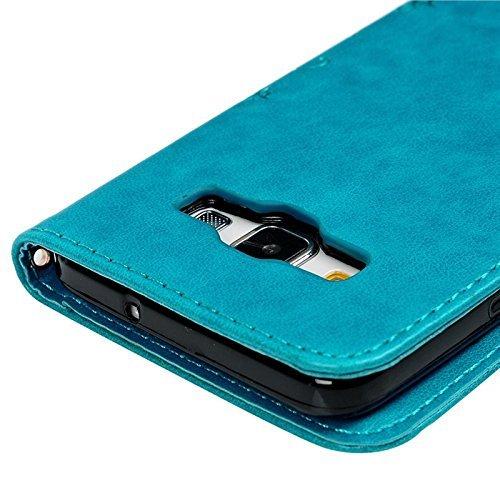 roreikes Carcasa para Samsung Galaxy S3/S3 Neo, piel funda cartera funda pintura Flores Mariposa Patrón PU Funda de piel flip funda estilo libro soporte ...