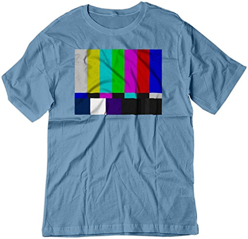 Bar Yellow T-shirt - BSW Men's No Channel Color Bars Vintage Big Bang Theory Shirt 2XL Carolina Blue