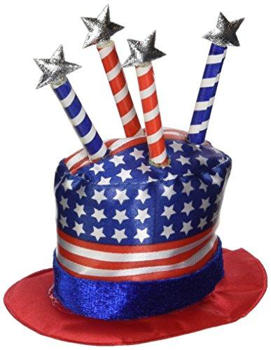 Uncle Sam Hat Hair Clip Party Accessory (1 count) (Patriotic Hat Hair Clip)