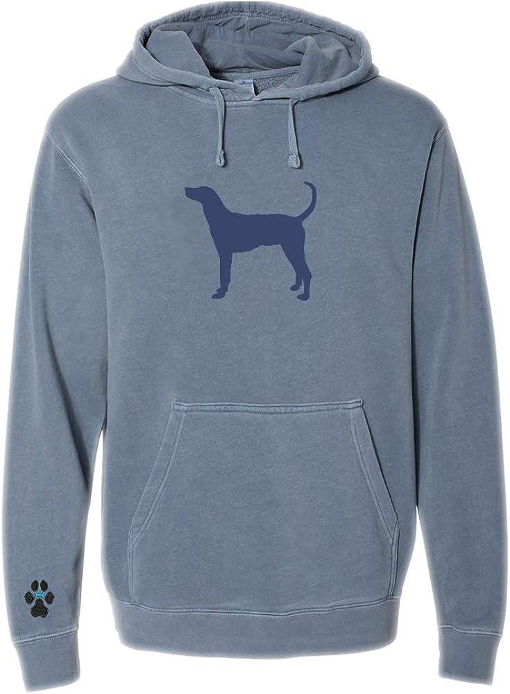 Heavyweight Pigment-Dyed Hooded Sweatshirt with Plott Hound Silhouette