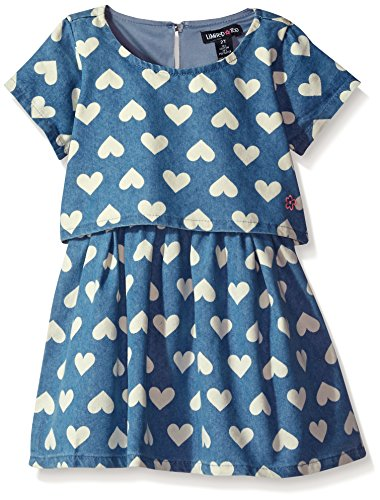 Limited Too Toddler Girls' Casual Dress (More Styles Available), Medium Blue Wash KY95, 4T (Code Clothing Dress)