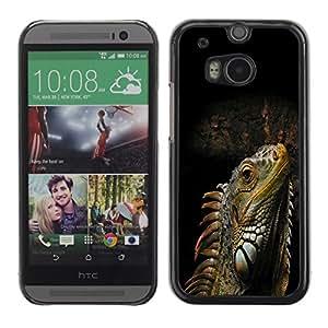 TECHCASE**Cubierta de la caja de protección la piel dura para el ** HTC One M8 ** Cool Iguana Lizard Reptile