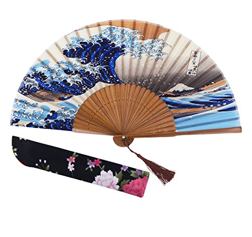 Chinease//Japanese Bamboo And Hand For Decorative Folding Fans Large Galaxy Fan