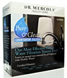 Dr. Mercola Countertop Drinking Water Filter System - Patented Dual Filtration Water Faucet Filter - Water Purifier Removes Lead, Chlorine Byproducts, Microbial Cysts and More - California Certified
