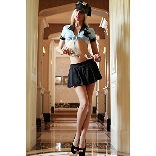 Topry (TM) Sultry Sergeant Police Costume Sexy Women Adult Fancy Dress For Halloween Costume (Sexy Sergeant Costume)