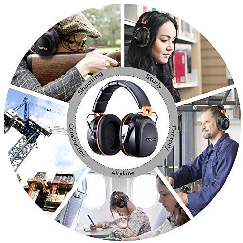 Tacklife Casque Anti-bruit Pliable Enfant Adulte, SNR 34dB/Protection Auditive/Certification CE/Confortable/Idéal pour… 6