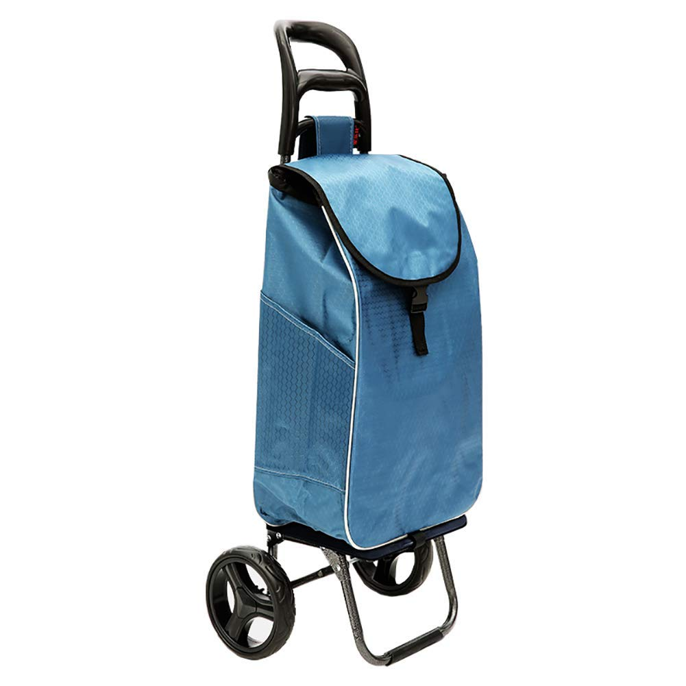 ChenDz-S Shopping cart trolley car loading cart small cart folding trailer trolley household trailer truck portable trolley Color : Gray