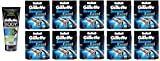 Gillette Body Non Foaming Shave Gel for Men, 5.9 Fl Oz + Sensor Excel Refill Blades 10 Ct. (10 Pack) + Curad Dazzle Bandages 25 Ct