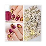 Born Pretty 1 Sheet Embossed 3D Nail Stickers Flower Vines 3D Nail Art Stickers Decals #BP053