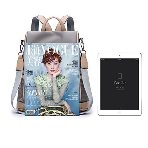 Flada Oxford Rucksäcke für Mädchen Buch Tasche Anti-Diebstahl Business Rucksack Schule Casual Rucksack dunkelgrau Schwarz mGshEWAn7z
