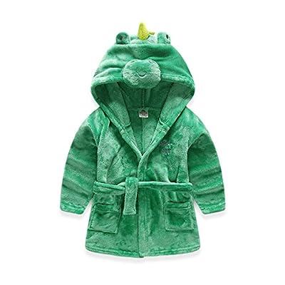 Kids Hooded Robe Children's Coral Fleece Pajamas Baby Sleepwear Toddler Bathrobe