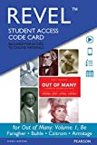 img - for REVEL for Out of Many, Volume 1 -- Access Card (8th Edition) book / textbook / text book
