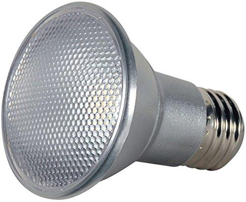 Satco S9401 Medium Base Light Bulb (6-Pack), 120 Volt, 7 Watts, 7PAR20/LED/25'/3000K/120V/D Lamp Code, 25000 Average Rated Hours, 25 Beam Spread Deg, E26 ANSI ()