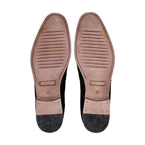 Cox Herren Chelsea-Boots Schwarz