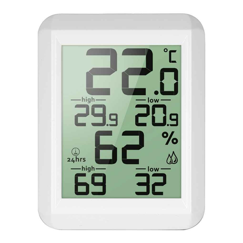 Elenxs Indoor Outdoor Digital LCD Thermometer Hygrometer Electronic Temperature Humidity Meter MIN/MAX Records Weather Station