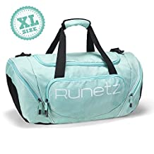 Runetz - Extra Large TEAL Hot Blue Gym Bag Athletic Sport Shoulder Bag for Men & Women Duffel 30-inch - Teal