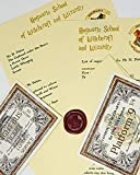 Harry Potter School Acceptance Letter Gift Pack Personalized with Any Name and Address