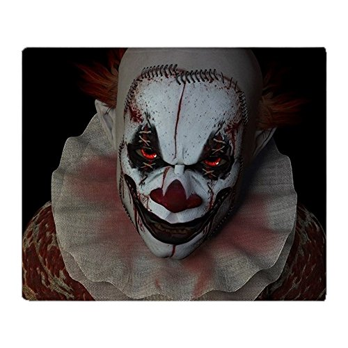 Clowns Are Scary As Hell (CafePress - Scary Clown - Soft Fleece Throw Blanket, 50