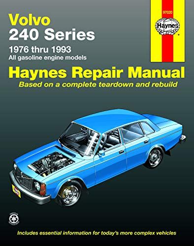 - Volvo 240 Series: 1976 Thru 1993 All Gasoline Engine Models (Haynes Repair Manual) (Haynes Manuals) (Haynes Repair Manuals)