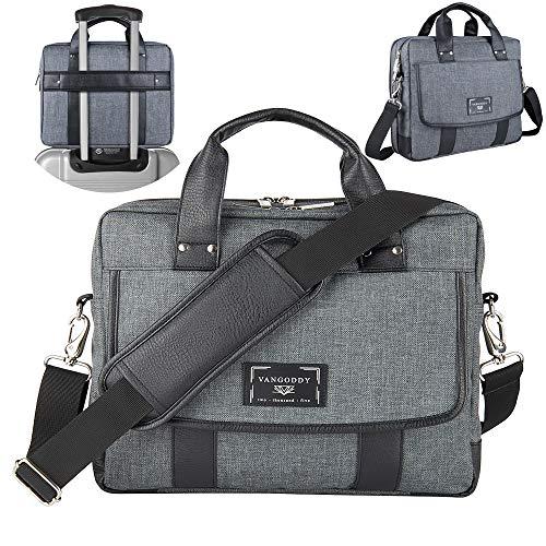 16 ~ 17.3 inch Laptop Bag, Twill Vegan Shoulder Messenger Ba