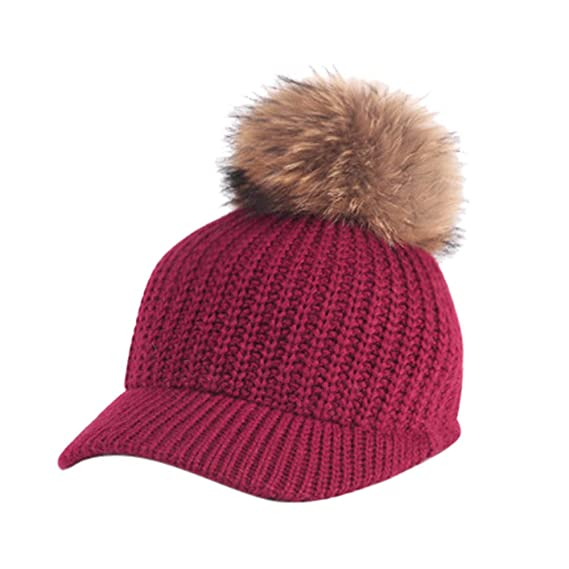 BHYDRY Mujeres Crochet Invierno Gorro Punto Caliente Cozy Grande Sombrero  Moda DiseñO De Lana Tejer Beanie Warm Caps  Amazon.es  Ropa y accesorios 4d2224dabde
