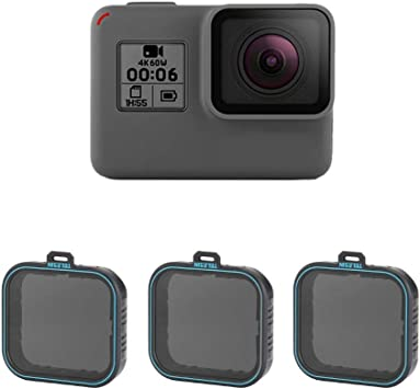 ND4 ND8 ND16 ND Filter for Hero 7 6 5 Camera Lens Accessory 3 in 1
