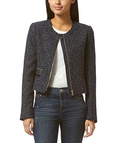 - Avec Les Filles by Joyce Azria Boucle Tweed Cropped Jacket (Navy) Size XS