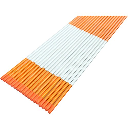 48'' Fiberglass Reflective Driveway Markers, 18 Pack by Westerly