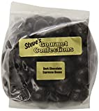 Steve's Gourmet Confections Covered Espresso Beans, Dark Chocolate, 4 Ounce