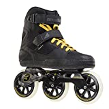Rollerblade Metroblade 3WD Urban Design 3x110 85A Wheels Twincam ILQ Bearings, Black/Yellow, Size 10.5