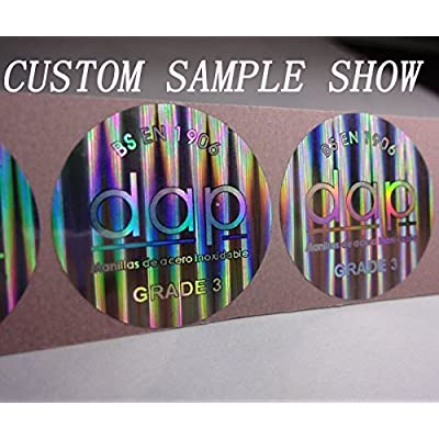 Tamper evident sticker hologram original sticker diameter 8mm/0.3