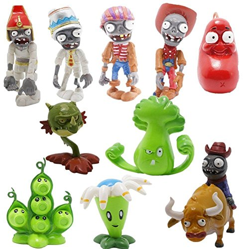Shalleen Plants vs Zombies 2 PVC 10x Toy Action Figures Set: Egypt Private Wild (Wild West Costume Images)