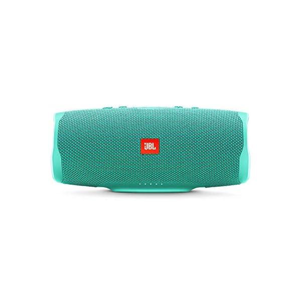 JBL Charge 4 - Enceinte Bluetooth portable avec USB - Robuste et étanche : pour piscine et plage - Son puissant - Autonomie 20 hrs - Turquoise 1