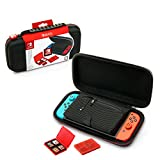 Electronics : NINTENDO SWITCH DELUXE TRAVEL CASE - PREMIUM HARD CASE MADE WITH BALLISTIC NYLON, SECURE TIGHT FIT FOR YOUR SWITCH AND GAMES. DESIGNED TO PROTECT SWITCH'S ANALOG STICKS. BONUS: TWO MULTI-GAME CASES