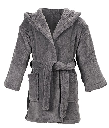 Simplicity Baby Robe Boys Girls Bath Robe and Cover up,Grey,4-6 Years