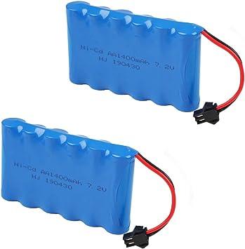 Crazepony-UK 7.2V 1400mAh Battery Pack SM Plug for RC Car Spare Parts Accessories: Amazon.es: Juguetes y juegos
